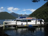 New Zealand: Boat docking near the Milford Track