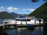 New Zealand: Boat docking near the MilfordTrack