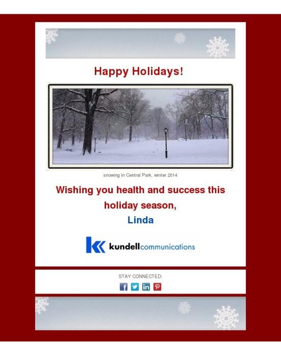 Holiday Card 2015 for social media